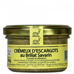Crémeux d'escargot au Brillat Savarin